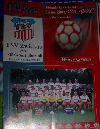 2003/04 Oberliga FSV Zwickau Germania Halberstadt Fußball