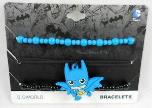 New-DC-Comics-Batman-Blue-Chibi-Bracelet-Set-Charm-Logo-Arm-Party-Wristband-Set