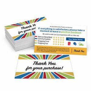 1000 Custom Printed Ebay Etsy Seller Id Thank You Cards W Your User Id Starburst Ebay