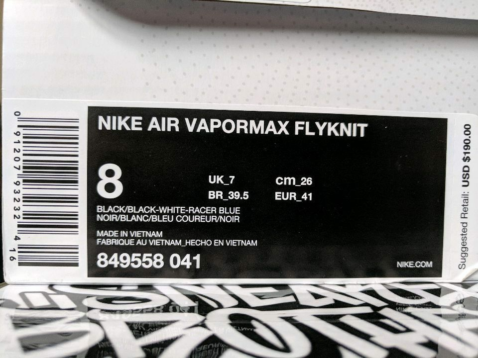 nike air cream vapormax oreo cookies & cream air flyknit 2.0 schwarz - weiß - blau 849558-041 e737dd