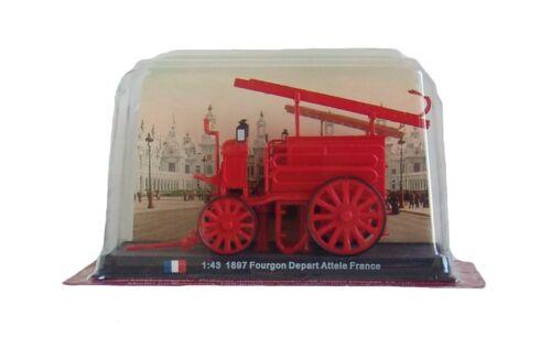 Amercom SF-11 1897 diecast 1:43 fire truck model Fourgon Depart Attele