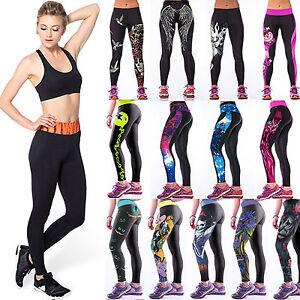 Women Garden 3D Graphic Print Skinny Stretchy Yoga Soft Leggings