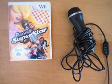"""Wii Microphone Nintendo und Spiel """"Boogie Super Star""""  sehr guter Zustand"""