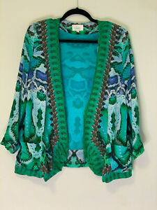 Holiday-SALE-RARE-CAMILLA-FRANKS-KAFTAN-DESIGNER-SILK-JACKET-Land-Of-Wonder