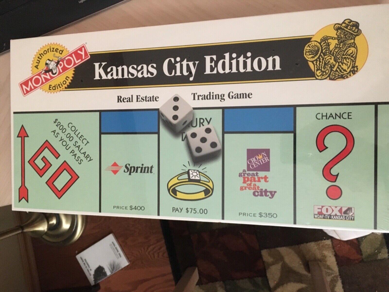 Kansas città edizione Monopoli gioco tavola Real Estate Trading gioco (NUOVO)
