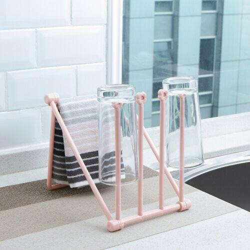 Foldable Drying Rack Shelf Kitchen Towel Cloth Storage Organizer Holder Rack New