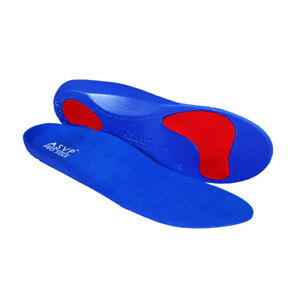 Heel Cup pronation Sole Control Red line 3//4 Orthotic Insoles Arch Support