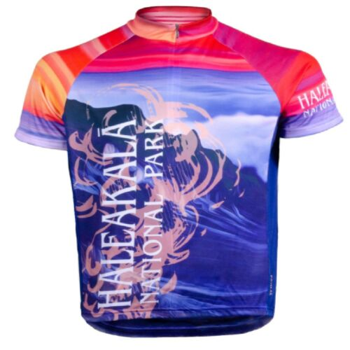 Primal Wear Haleakala National Park  Full Zip Short Sleeve  Sport Cycling Jersey