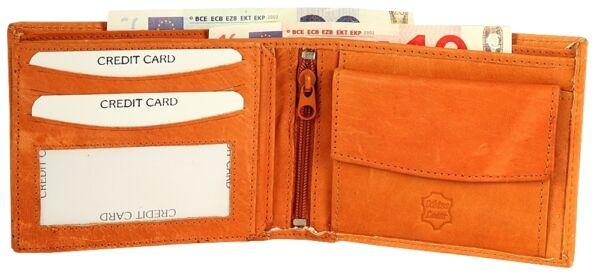 + Portafoglio Da Uomo Soldi Borsa Portafoglio In Pelle Bovina-beige Ex160301-e Portemonnaie Aus Rindsleder - Beige Ex160301