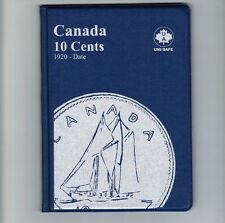 Uni-Safe Canadian Canada 10 Cents Dime Coin Collection Album Folder 1920-Date