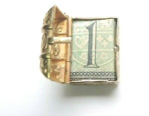 Antique-Vintage-Art-Deco-Treasure-Chest-Charm-9K-Yellow-Gold-British-Hallmarks