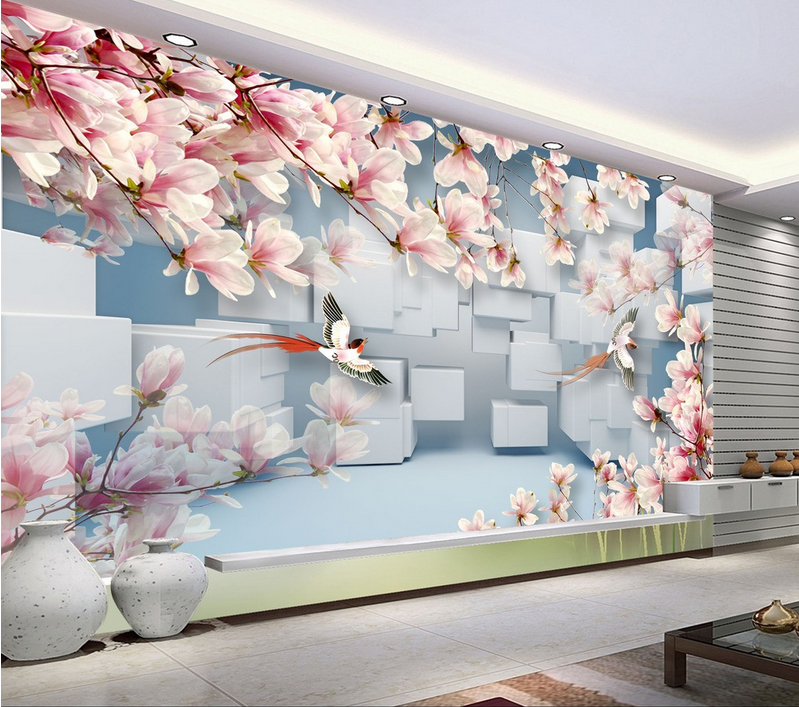 3D Pretty Birds Tree 7 Wall Paper Murals Wall Print Wall Wallpaper Mural AU Kyra