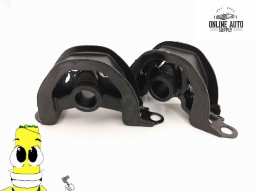 Front and Left Lower Motor Mount Kit for Honda Civic 1.6L Engine 92-00 Set of 2