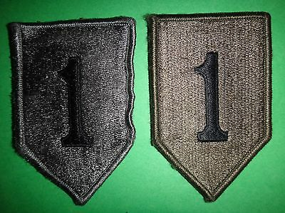 Collection Of 2 US 1st INFANTRY Division ACU Shoulder Patches