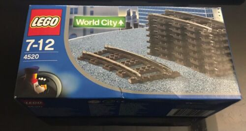 *BRAND NEW* Lego 8 Pieces CURVED RAIL TRAIN TRACK 9V  4520