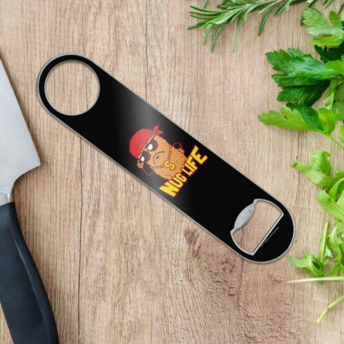 Nug Life Chicken Nugget Funny Humor Stainless Steel Flat Speed Bottle Opener