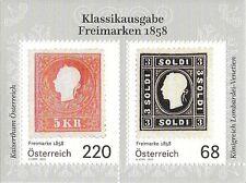 """Österreich Mi.Nr. Block 91** (2016) postfrisch/Klassikausgabe """"Freimarken 1858"""""""