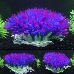 Fish-Tank-Aquarium-Decor-Accessories-Artificial-Water-Plant-Purple-Plastic-Grass