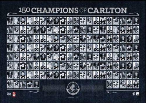 150 CHAMPIONS OF CARLTON OFFICIAL CARLTON BLUES FOOTBALL CLUB PRINT CHRIS JUDD