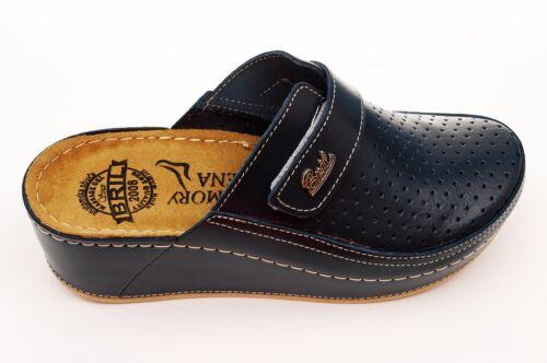 Noir Dr PUNTO Rosso Bril D130 Femmes Cuir à Enfiler Sabots Mules Pantoufles Chaussures