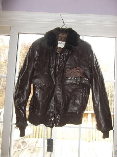 Jacket  Air Force FLIGHT BOMBER Fur Collar Brown L