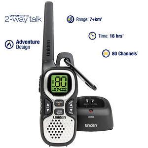 Uniden-UHF-1-Watt-CB-Handheld-2-way-radio-80-UHF-Channels-Range-Extender-Dup