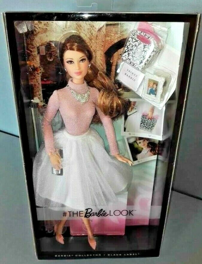 BARBIE LOOK GLAM PARTY SOIREE NRFB - negro LABEL model doll collection Mattel