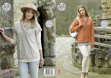 Womens Tunic /& High Necked Sweater Double Knitting Pattern King Cole DK 4686