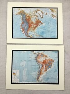 1920-Antique-Prints-Map-of-North-and-South-America-Topographic-Relief-Terrain