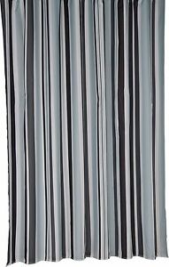 Bathroom-Stripe-Mould-Resistant-Bath-Shower-Curtain-Trendy-Croydex-BLACK-259