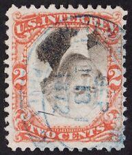 "US Sc# R135b USED { ""INVERTED CENTER"" ERROR } BLUE CNL BEAUTY OF 1871 CV$ 700.00"