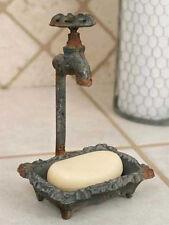 Country/Primitive/Farmhouse/Cottage Cast Iron Water Faucet Soap Dish Holder