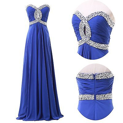 CHEAP Beaded Long Formal Wedding Gown Evening Prom Bridesmaid Party Dresses GIFT