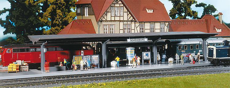 H0 Faller 120200 Bahnsteig mit laufenden Figuren neu OVP OVP OVP  | Genialität  5ecdc6