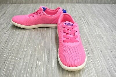 Polo Ralph Lauren Toddler Girl/'s Vali Gore Lt Pink//Lt Pink Stripe Sneakers Shoes