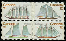 Canada #744-747 12¢ Sailing Vessels Block MNH