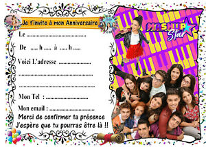 Details Sur 5 Cartes Invitation Anniversaire Kally S Mashup N 46