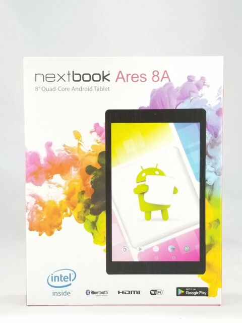 """NEW Nextbook Ares 8A - 16GB, 8"""" Quad-Core Android Tablet  BLUE 4000 MAH"""