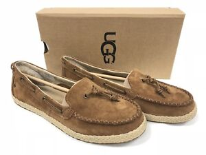 44e56ad2cea Ugg Australia Channtal Women s Chestnut Loafers Shoes 1092231 Suede ...