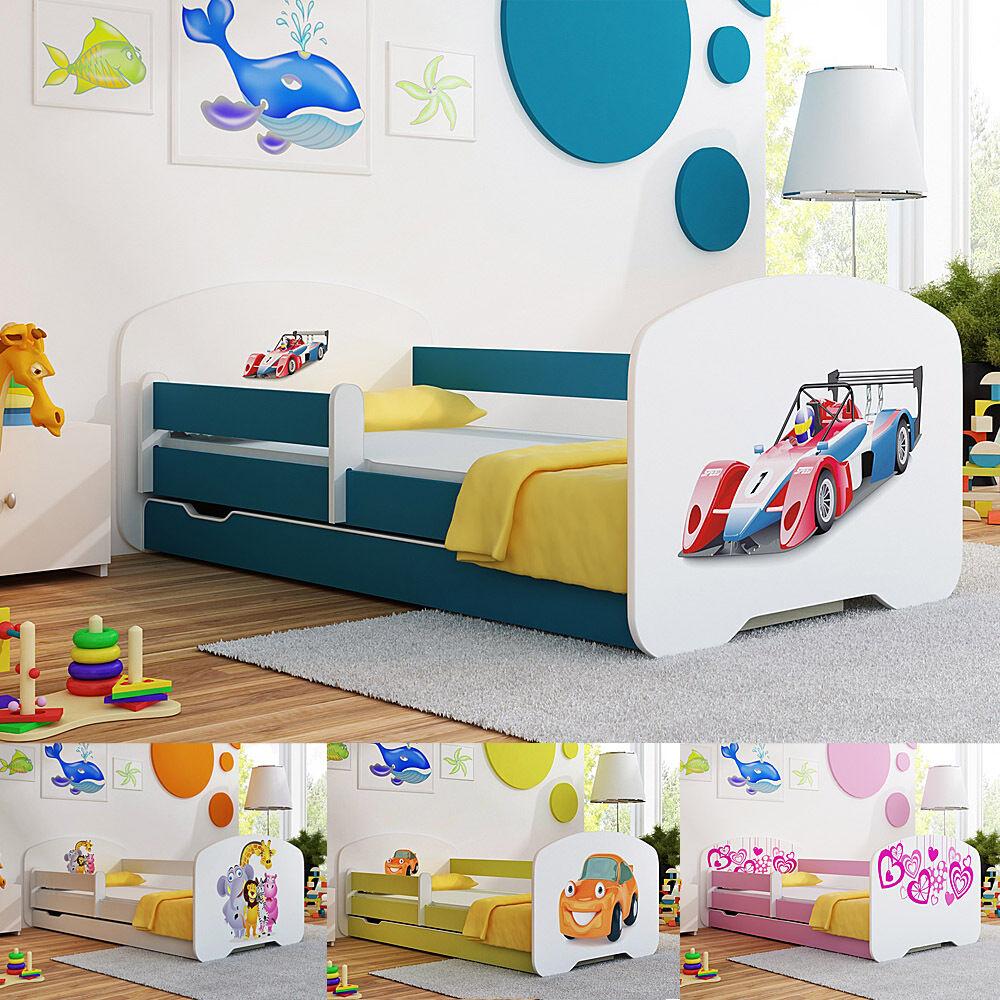 Tout-petit enfants lit avec matelas tiroir boys & girls 160x80