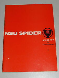 Betriebsanleitung-Owner-s-Manual-NSU-Wankel-Spider-deutsch