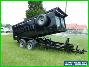 2021 prospector 7 x 14 4 ft high side dump trailer equipment ramp tall dumpster