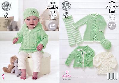 KNITTING PATTERN Baby Dress Hat Shorts Top Cardigan Cherish DK King Cole 4900