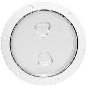 """New Screw-out Deck Plate beckson Marine Dp60-w-c 6/"""" ID 8-1//8/"""" OD 6-1//2/"""" White Ce"""