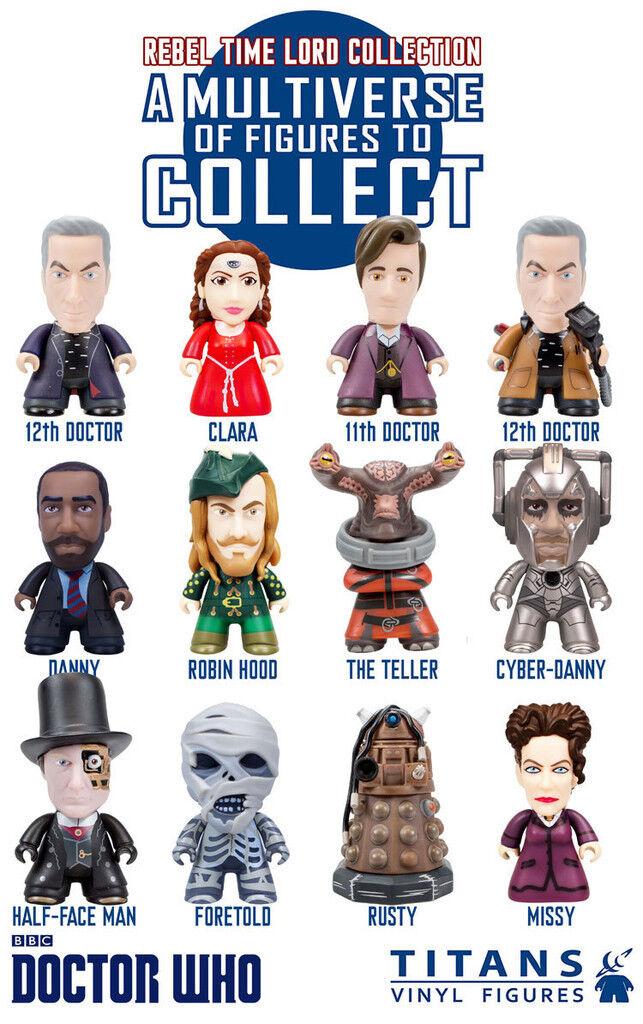Titans DOCTOR WHO 3  VINYL FIGURE Rebel Time Lord Collection TITAN like Kidrobot