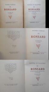 Détails Sur Ronsard Gayetez Et Folastries Et Poèmes Damour Ill F Knoeri 1942 2 Volumes