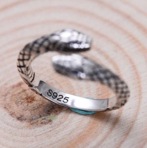 G01 Ring Schlange aus Sterling Silber 925 größenverstellbar