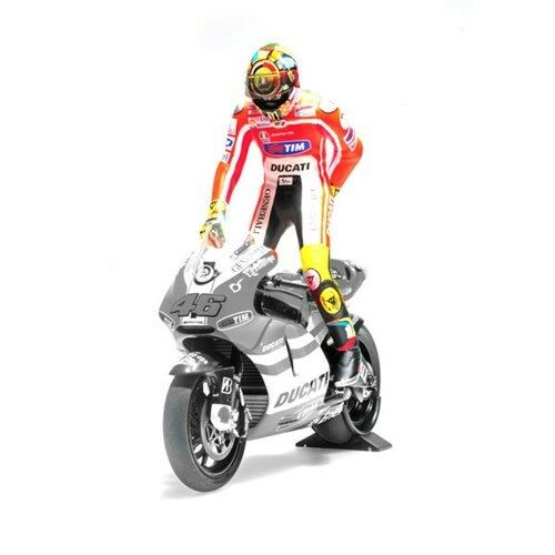 1 12 Minichamps Valentino Rossi Figure Figurine Pulling on Pants 2011 RARE NEW