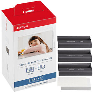 Details about NEW Genuine CANON KP-108IN Color Ink/Paper Set for SELPHY  CP900 800 780 770 760