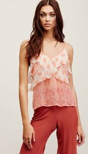 cbff068d08559 NWT Free People All Things Tank Top Camisole Blouse Shirt Floral ...